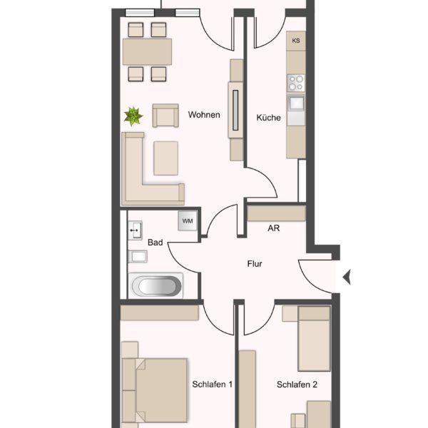 Wohnung Typ1 ca.75m²
