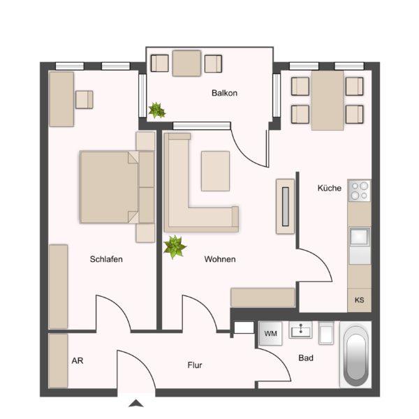 Wohnung Typ2 ca.63m²